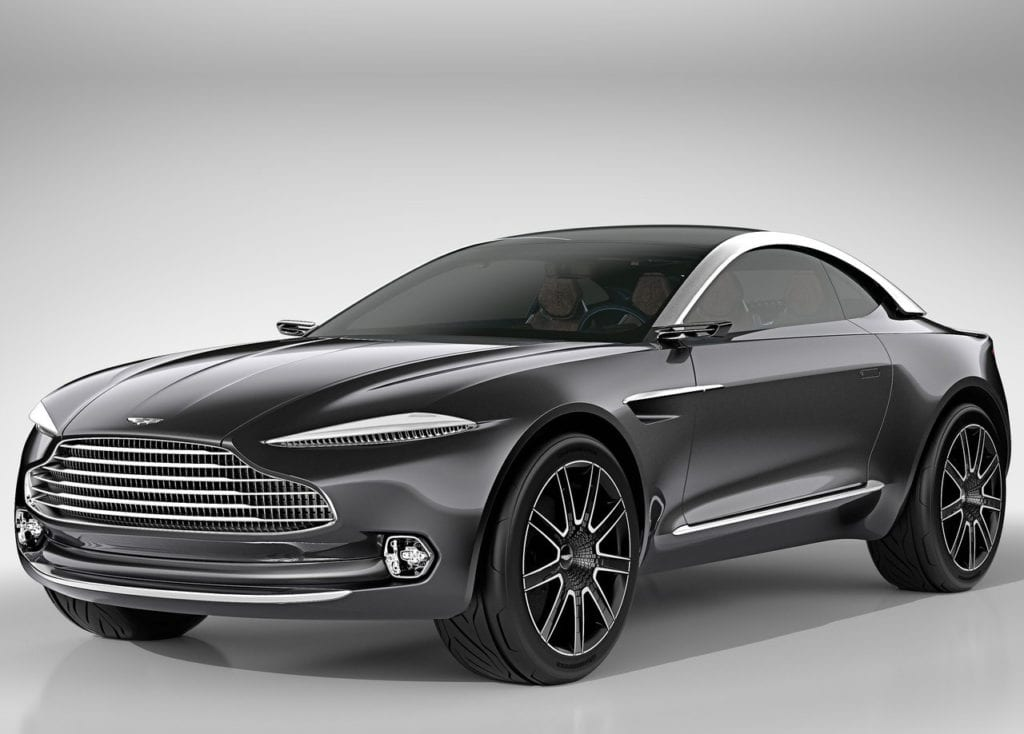luxury electric cars Aston Martin DBX