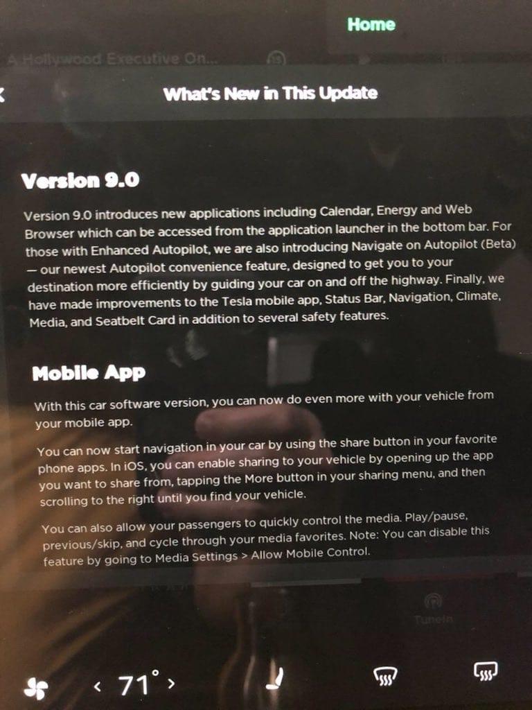 tesla verion 9.0 update (5)