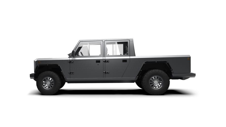 bollinger b2 electric pickup truck (side)