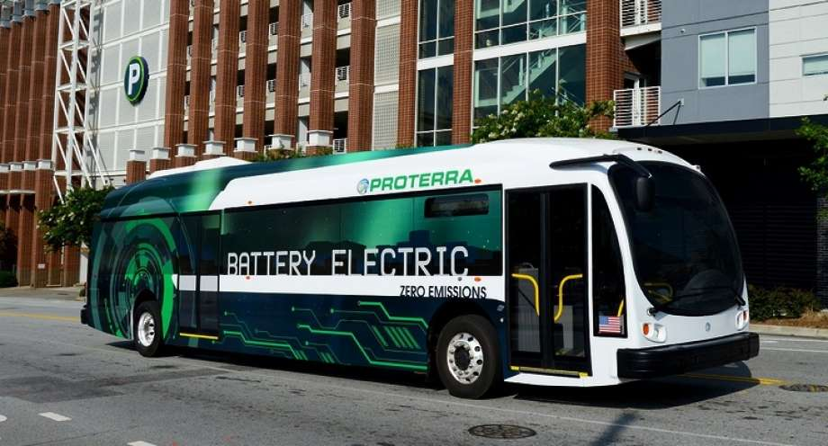 fully-electric bus
