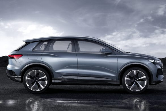Audi Shows off Their Small Q4 e-tron Electric SUV Concept