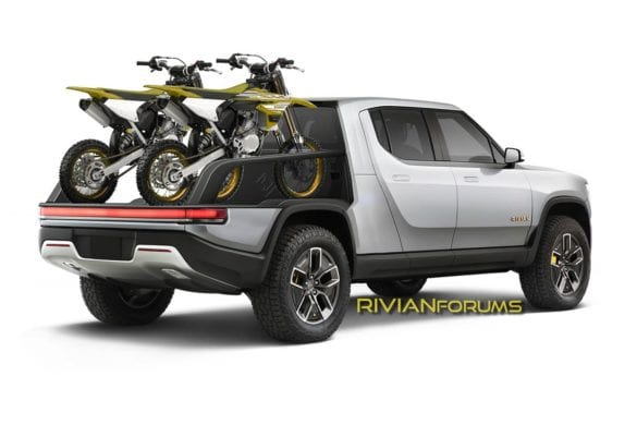 Rivian R1T Swappable Truck Bed Patent Gets Rendered