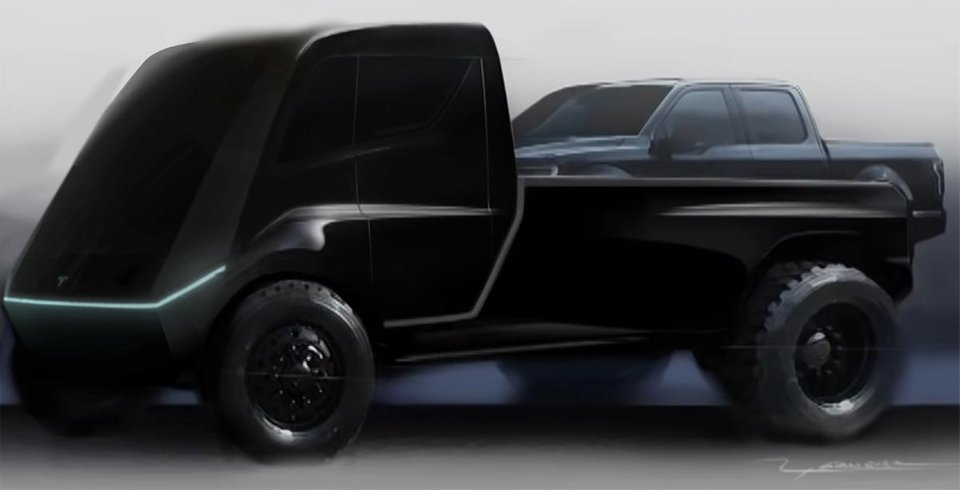 Tesla Truck Fan Render 8