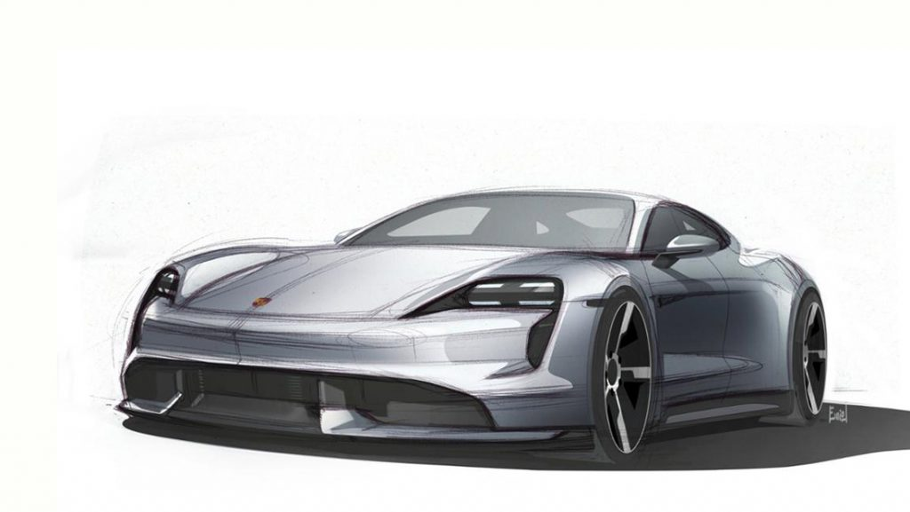 Porsche Taycan Design Sketch