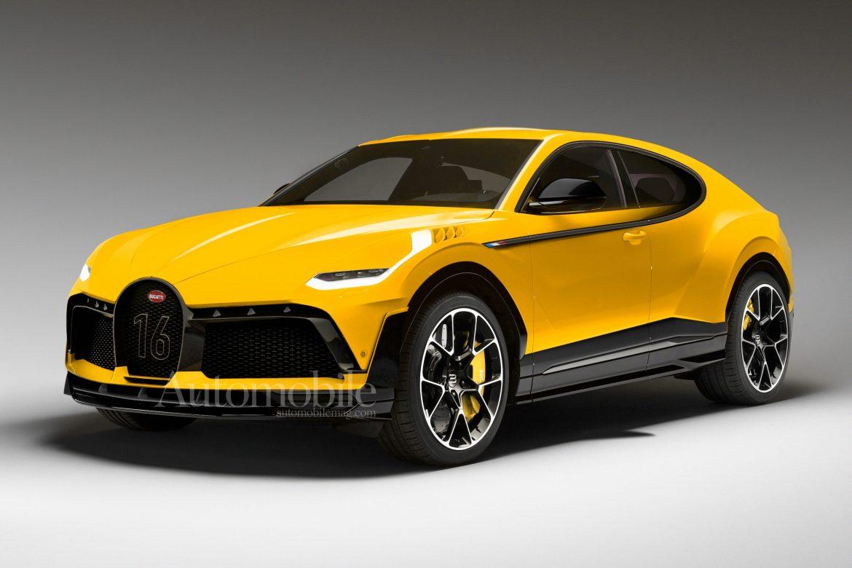 Electric Bugatti Crossover Render