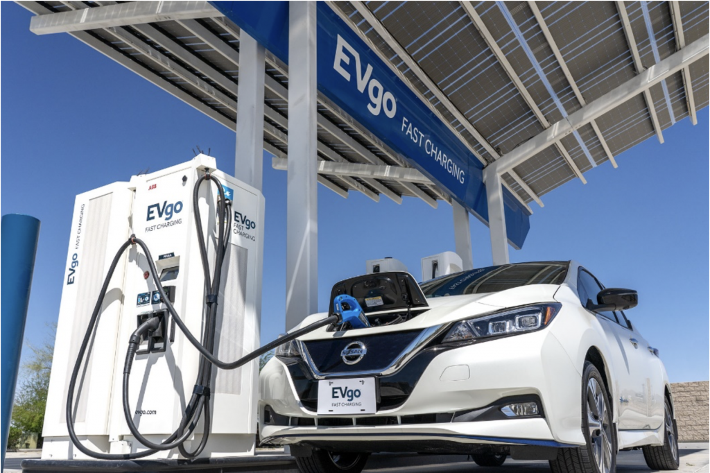 evgo-nissan-fast electric car chargers