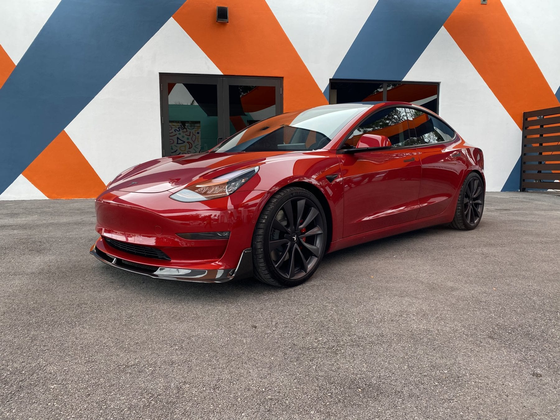 Red Tesla Model 3