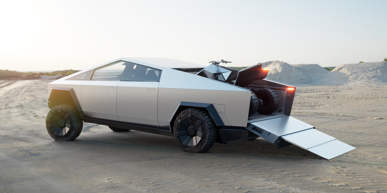 Tesla ATV on Cybertruck