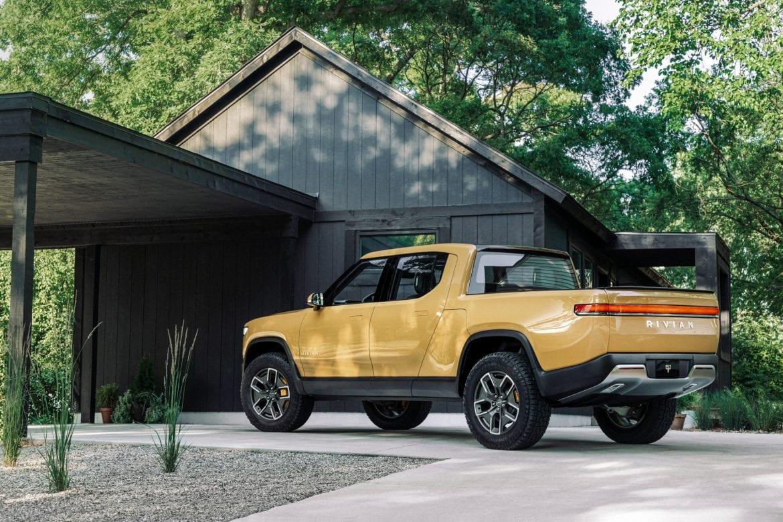 Rivian Electric Truck Yellow